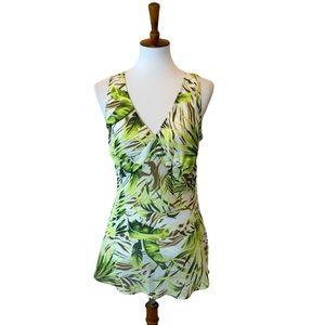 Marks Spencer tropical v neck tunic mini dress top